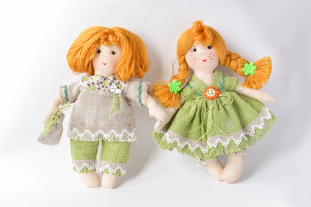 Handmade toys made of fabric for children or as a gift