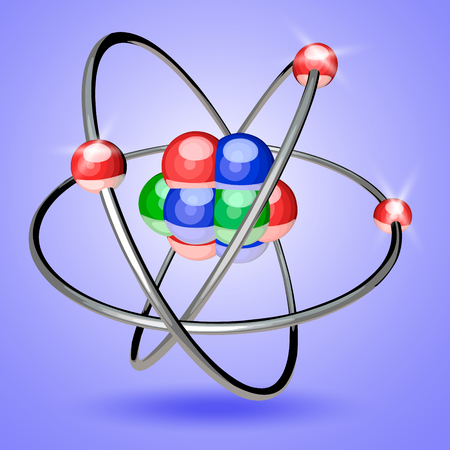 electrons: Abstract image of an atom with electrons