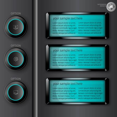 display: infographics with a luminous display