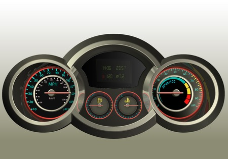 rotations: realistic control panel of the car or motorcycle