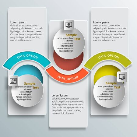 abstract design elements: vector abstract 3d paper infographic elements