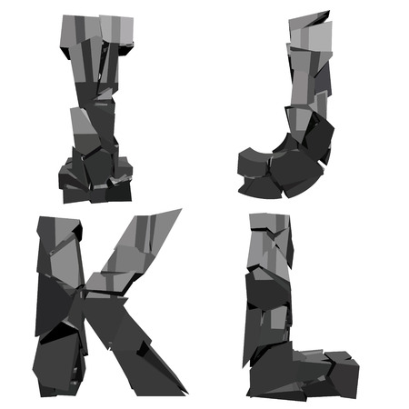 a set of four letters broken Çizim
