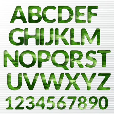 etched: Modern alphabet with shadow effect. Vector letter Illustration