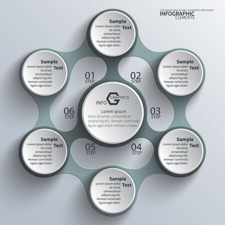 abstract 3d paper infographic elements.Metaball  infographics.Round elements