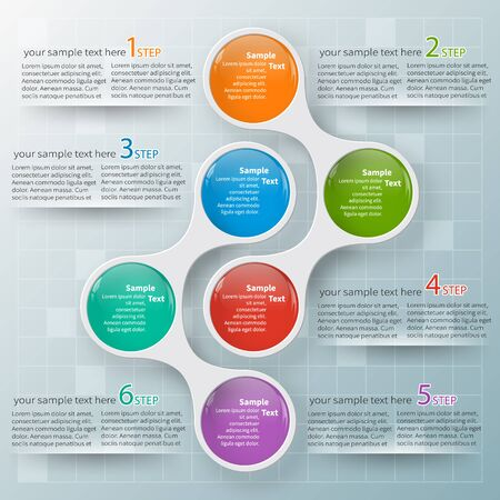 round: vector abstract 3d paper infographic elements.Metaball infographics.Round elements