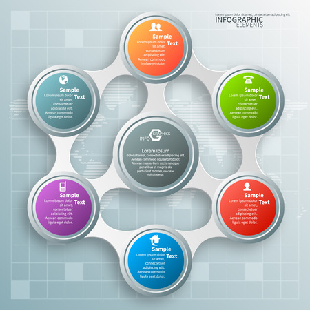 website backgrounds: vector abstract 3d paper infographic elements.Metaball infographics.Circular elements