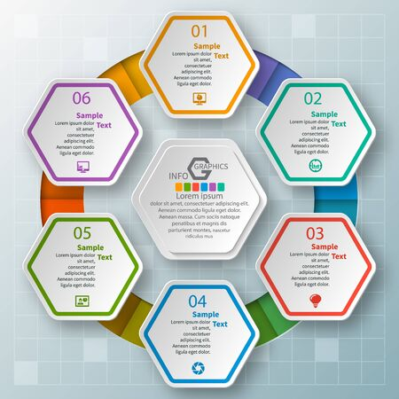 vector abstract 3d paper infographic elements. 免版税图像 - 97769521