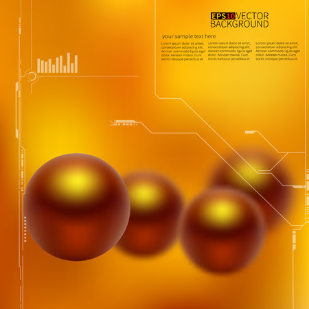 Abstract 3D blurred background for banner, flyer or presentation. Vector