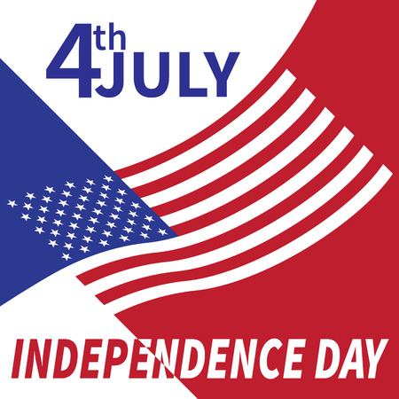 independence day 4 th july. Happy independence day.Vector illustration.