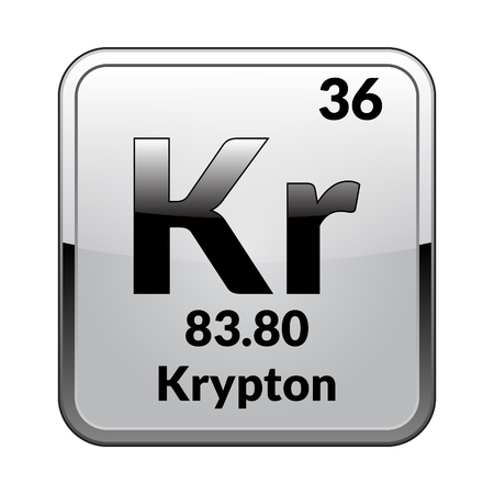 Krypton elements black white picture — 7