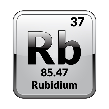 Rubidium Symbolemical Element Of The Periodic Table On A Glossy