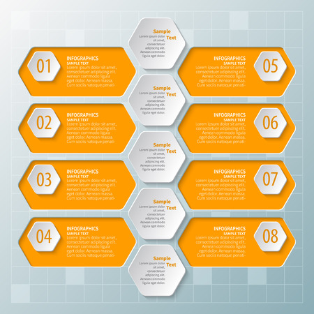 vector abstract 3d paper infographic elements.Business infographics Иллюстрация