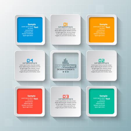 Vektor abstrakte 3d Papier Infografik Elemente.Business Infografiken