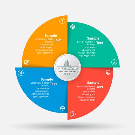 vettore astratto 3d elementi di carta infografica. infografica circolare