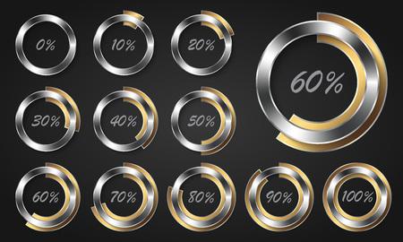 vettore, estratto, 3d, carta, infografico, elements., affari, infographics., grafici, torta, per, web, design., progresso, bar., elemento, per, infographic, chart., blu, bianco, stile