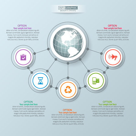 vector abstract 3d paper infographic elements.Business infographics Illustration