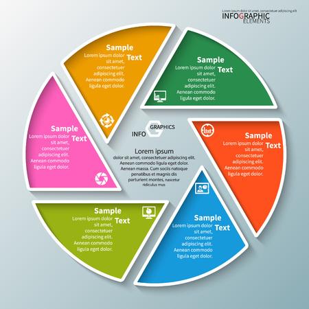 vector abstract 3d paper infographic elements.Circular infographics Vektoros illusztráció