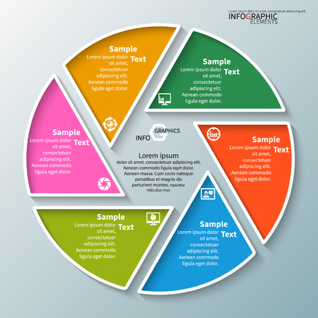 vettore astratto 3d elementi di carta infografica. infografica circolare Vettoriali