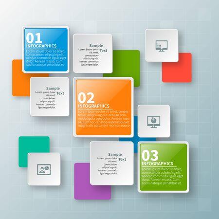 vecteur, résumé, 3d, papier, infographic, elements., affaires, infographie Vecteurs
