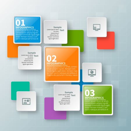vector abstract 3d paper infographic elements.Business infographics Vektorové ilustrace