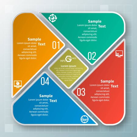 vector abstract 3d paper info graphic elements.Circular info graphics