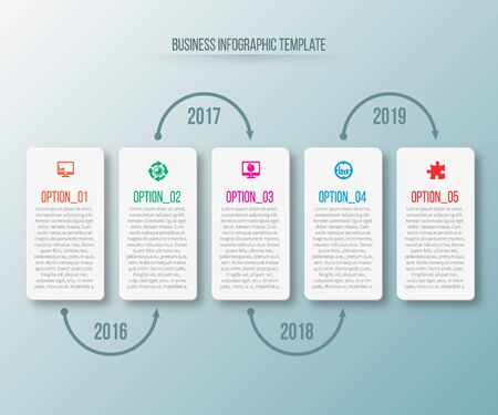 vector abstract 3d paper info graphic elements.Business info graphics Иллюстрация