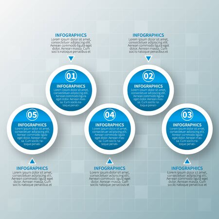 vector abstract 3d paper infographic elements.Business infographics Çizim