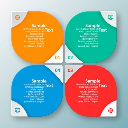 vector abstract 3d paper infographic elements.Business infographics 向量圖像