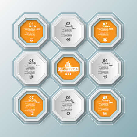 vector abstract 3d paper infographic elements.Business infographics Ilustrace