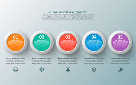 vector abstract 3d paper infographic elements.Business infographics 矢量图像
