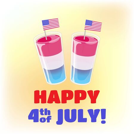 4th of July banner template. Vector concepr for Independence day flyer or poster.