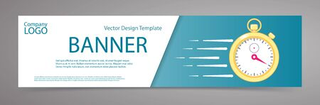 Banner with stopwatch. Vector design template for sale, last minute or limited time offer.