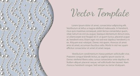 Elegant template with cream pearl pattern. Vector design for banners, cards, wedding invitation. Ilustração