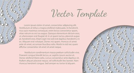 Elegant template with pink pearl pattern. Vector design for banners, cards, wedding invitation.