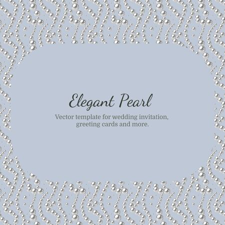 Elegant template with pearl pattern. Vector design for banners, cards, wedding invitation. Squared.