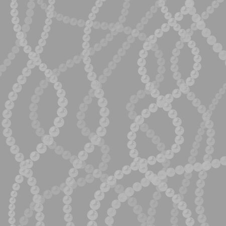Pearl strings background. Elegant vector template. Curved wavy strings of pearls.