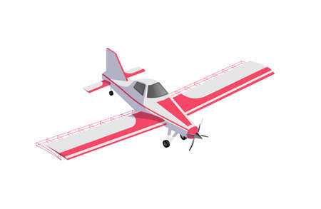 Agricultural airplane, modern jet for crop dusting