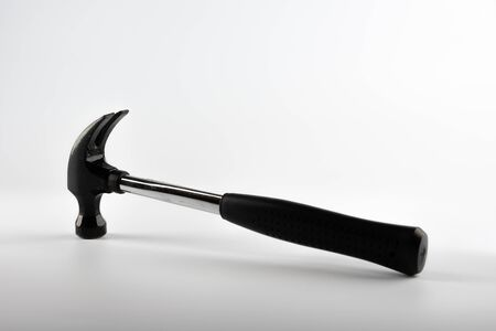 A DIY claw hammer isolated on a white background Standard-Bild