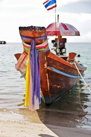 horison: long-tail boat on Koh Tao, Thailand