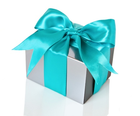 surprise party: silver gift box