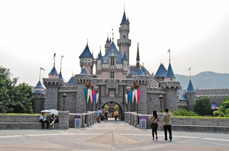 Disney Land Hong Kong castle