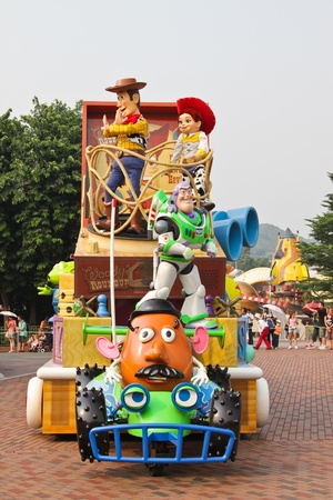 theme parks: Disney Land Hong Kong parade