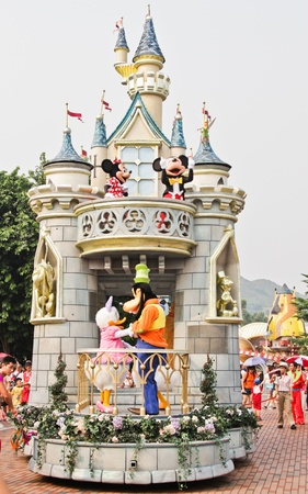 disney cartoon: Disney Land Hong Kong parade
