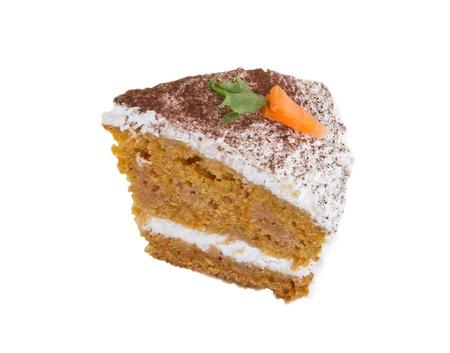 carrot cake: piece of carrot pie