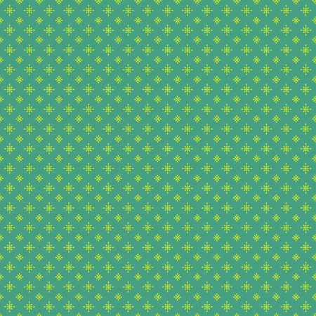 Christmas green stars background seamless pattern. Bright green diamond shapes elements on emerald green background. Classic neutral festive holiday wrapping paper.