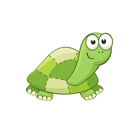 stuffed: Cute cartoon turtle character. Stuffed toy.