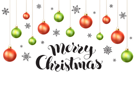 Happy Holidays Greeting Card Template. Modern New Year Lettering ...