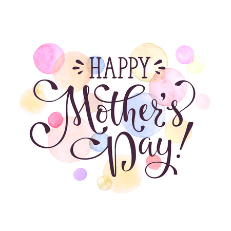 Mothers day greeting card template happy mothers day calligraphic mothers day greeting card template happy mothers day calligraphic wording with watercolor spots on background m4hsunfo