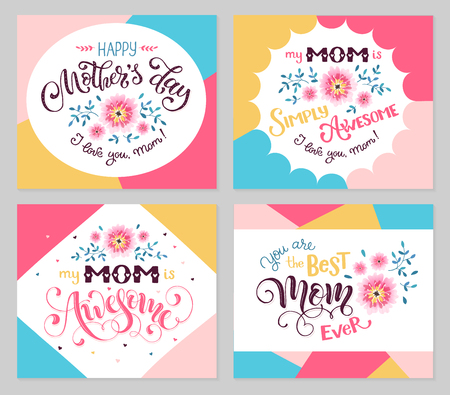 Happy mother day greeting card set my mom is awesome best mom happy mother day greeting card set my mom is awesome best mom ever m4hsunfo