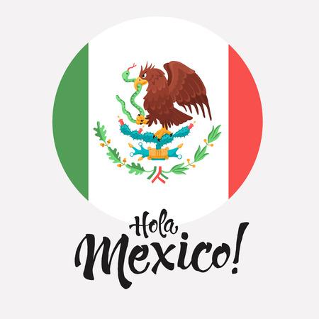 Guila Mexicana Aislada En El Fondo Blanco. Escudo De Armas De México ...